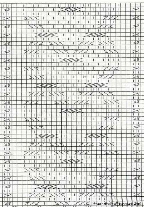 Вязание спицами. Теплая короткая юбочка с сердечками (2) (486x700, 336Kb)