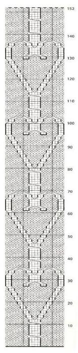 Вязание спицами. Теплая короткая юбочка с сердечками (4) (155x700, 100Kb)