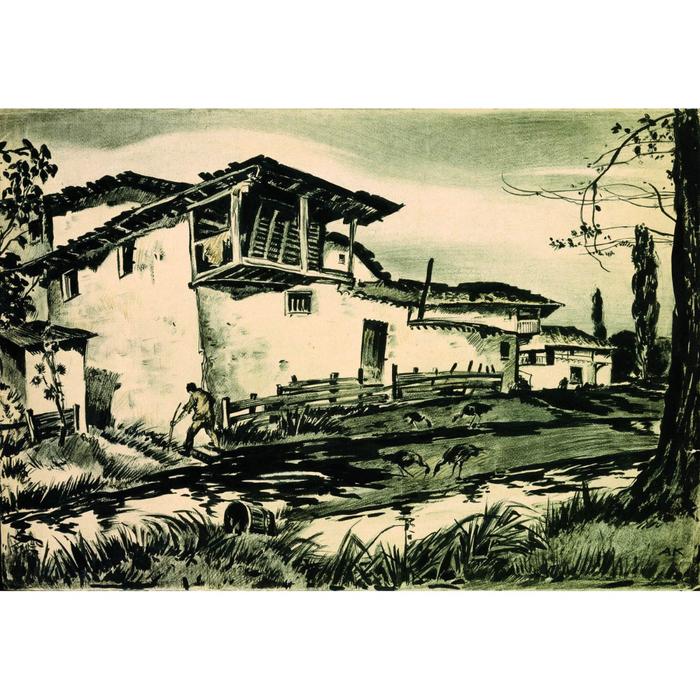 Каплун Адриан Владимирович (1887-1974) Кожевенный завод. Бахчисарай (700x700, 510Kb)