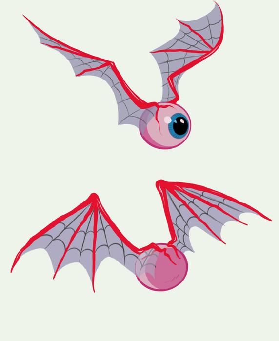 Как нарисовать летучий глаз из гравити фолз
