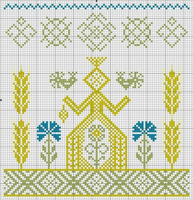Схема вышивки макошь оберега 55