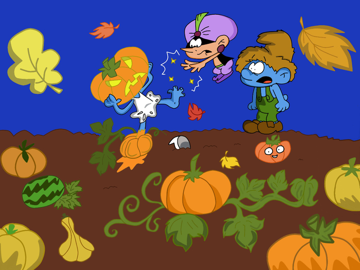 It's the Great Pumpkin, Smurfette (700x525, 304Kb)