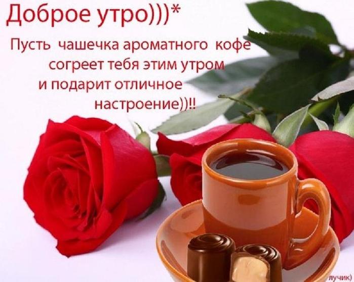 Доброго денечка розы кофе фото