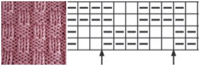 узоры спицами (2) (700x233, 130Kb)