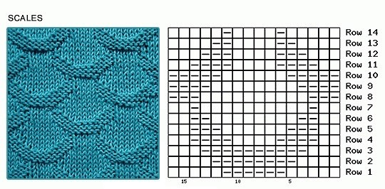 узоры спицами (4) (540x266, 176Kb)