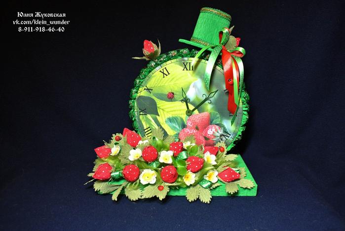 Часы с конфетами своими руками мастер класс