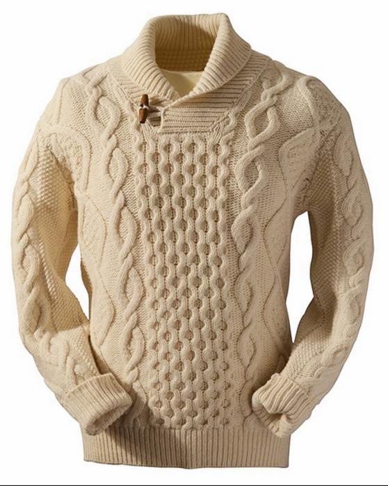 Мужские свитера крупной вязки