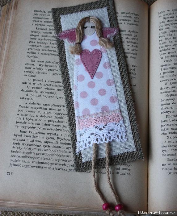 Закладки для книжки и подвески с ангелами. Идеи (20) (573x700, 377Kb)