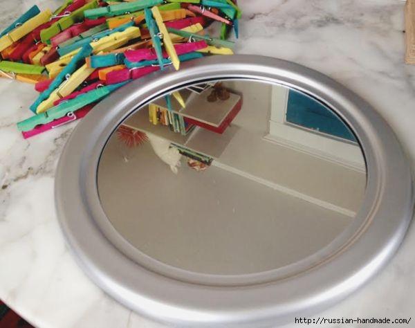 Креативное зеркало из прищепок (5) (600x474, 112Kb)