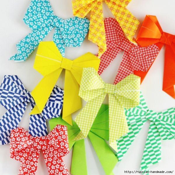 Бантики из бумаги в технике оригами (5) (600x600, 251Kb)