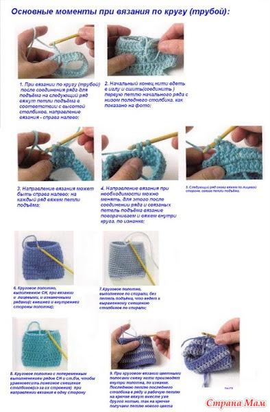 Как правильно вязать трубу крючком