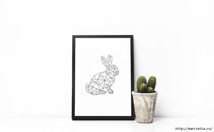 Геометрическое панно с кроликом. Идея к Пасхе (1) (700x431, 104Kb)