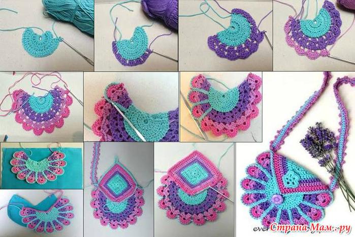 Вязание спицы сумка для девочки