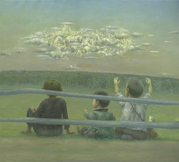 Безоблачное детство в картинах бурятского художника Жамсо Раднаева