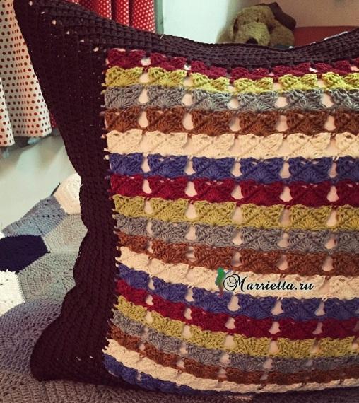 Две подушки крючком. Схемы вязания (2) (508x570, 373Kb)