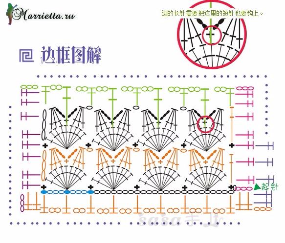 Две подушки крючком. Схемы вязания (4) (583x498, 305Kb)
