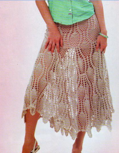 Вязание крючком женской платье