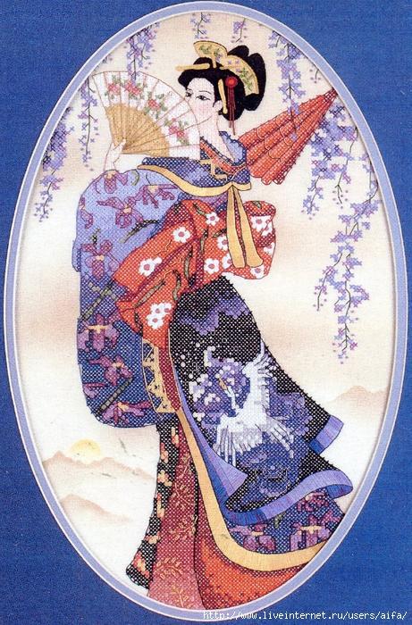 """Вышивка крестом """"японская"""