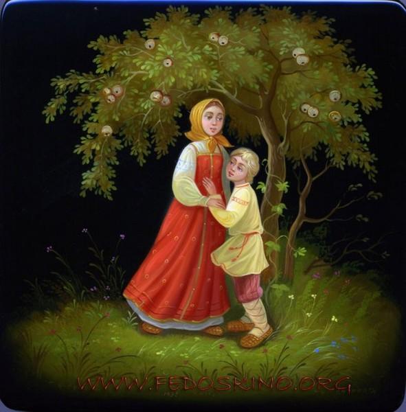 Федоскинская миниатюра - традиционная русская лаковая миниатюрная живопись масляными красками.