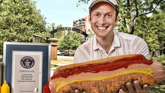 самый большой в мире хот-дог 1 (580x327, 94Kb)