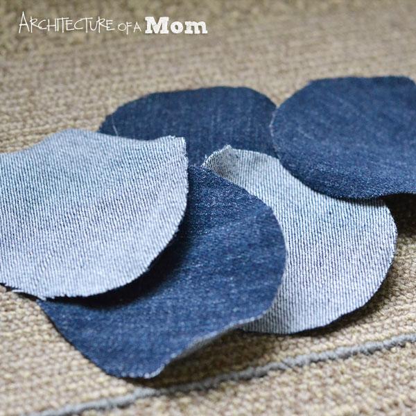 цветы из джинсы мк