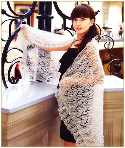 Вся коллекция шалей спицами