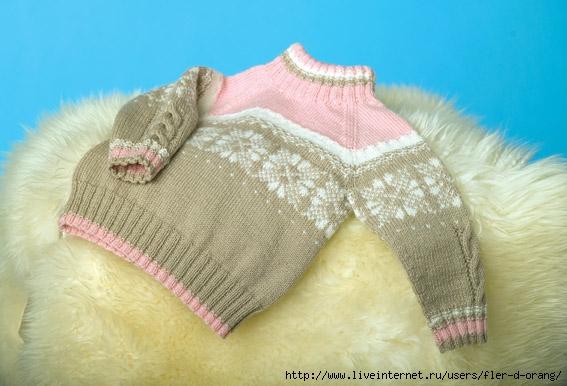 Описание вязания свитера