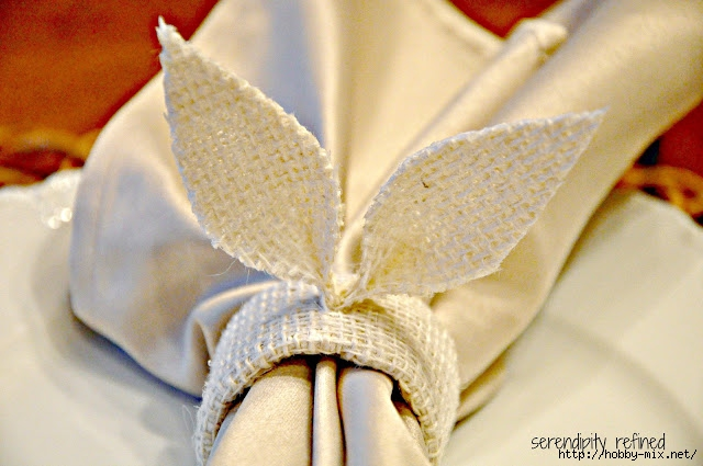 Burlap Easter Spring Bunny Ear Butterfly Napkin Holder Tablescape 16 (640x425, 177Kb)