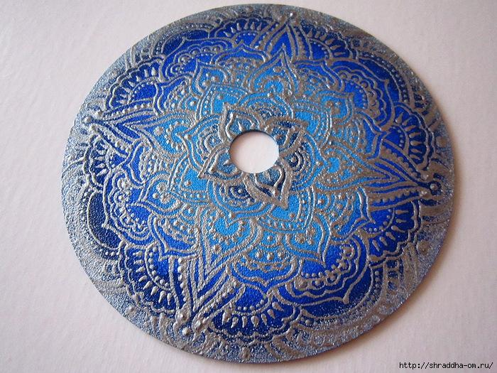 мандала синее серебро, автор Shraddha, 2 (700x525, 388Kb)