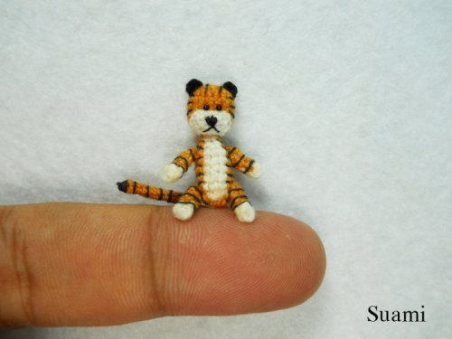 Миниатюрные вязанные игрушки