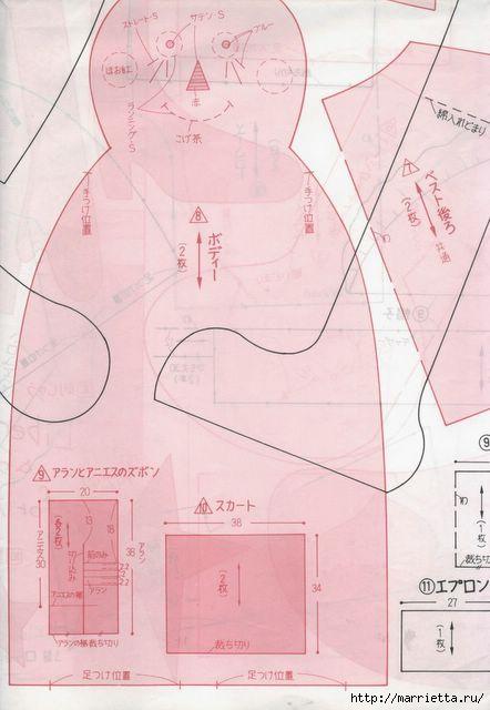 японский журнал с выкройками кукол (88) (442x640, 113Kb)