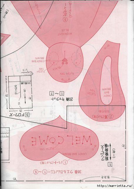 японский журнал с выкройками кукол (94) (456x640, 124Kb)