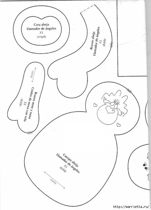 португальский журнал с выкройками кукол и игрушек (46) (502x700, 106Kb)