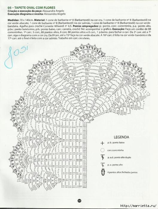 الكروشيه.  الحصير (12) (528x700، 308Kb)