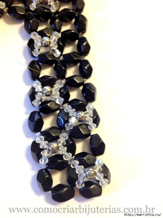 стильное ожерелье из бисера и кристаллов. мастер-класс (17) (525x700, 194Kb) .