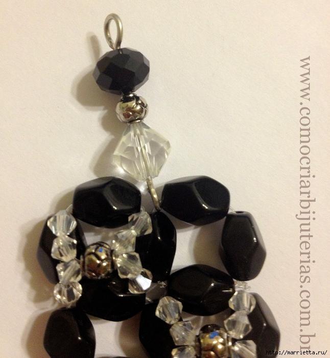 стильное ожерелье из бисера и кристаллов. мастер-класс (19) (646x700, 308Kb)