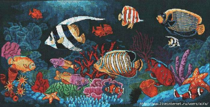 Подводный мир Вышивка крестом