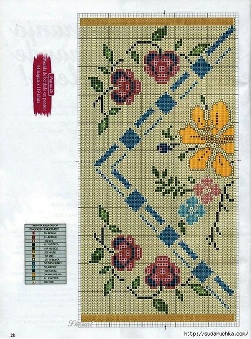 Схемы для вышивки коврика крестом 941
