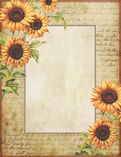 Sunflower stationery ~ lilac-n-lavender (494x640, 153Kb)