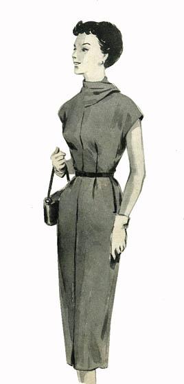 платье-Журнал мод 1954 (1) (268x559, 28Kb)