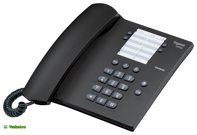 Телефон Siemens Gigaset DA100 (черный) (651x448, 41Kb)