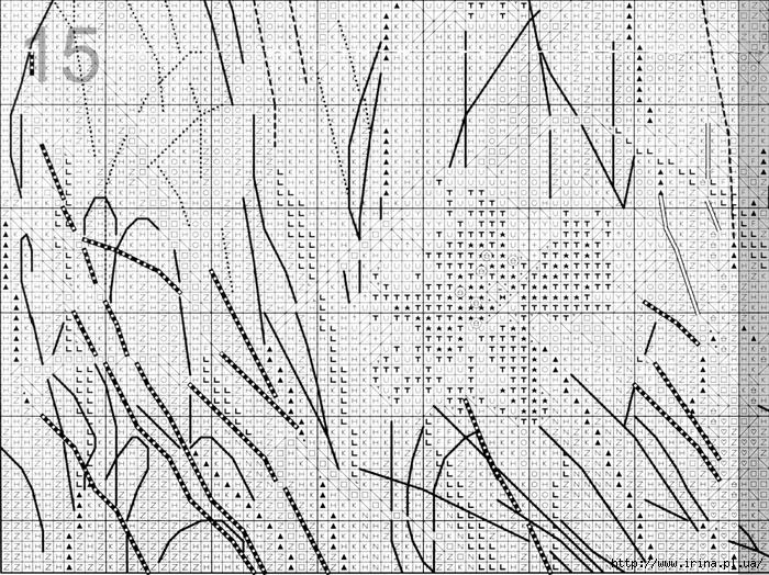 """""""Часть 1. Схема вышивки крестом  """"Фея розового сада """".  Схемы для вышивания."""