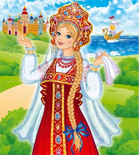 Девочка россия рисунок
