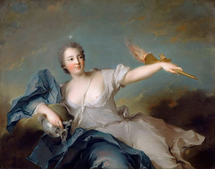 Жан-Марк Наттье -- Мария-Анна де Нель (1717-1744), маркиза Шатору (700x550, 43Kb)