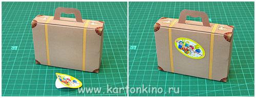 Как из бумаги сделать чемодан для 358