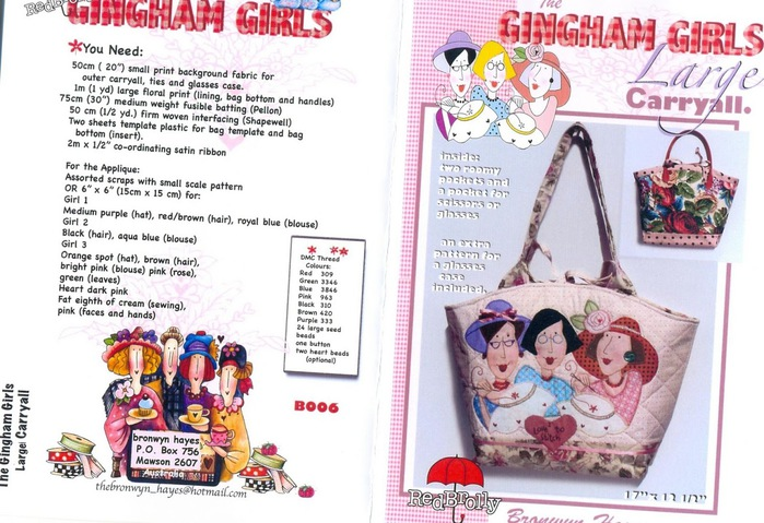 Bronwny Hayes-Gingham girls Large carry all (700x479, 130Kb)