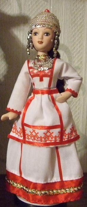 Куклы в чувашском национальном костюме