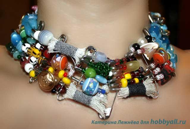 Дизайнерские украшения на шею своими руками