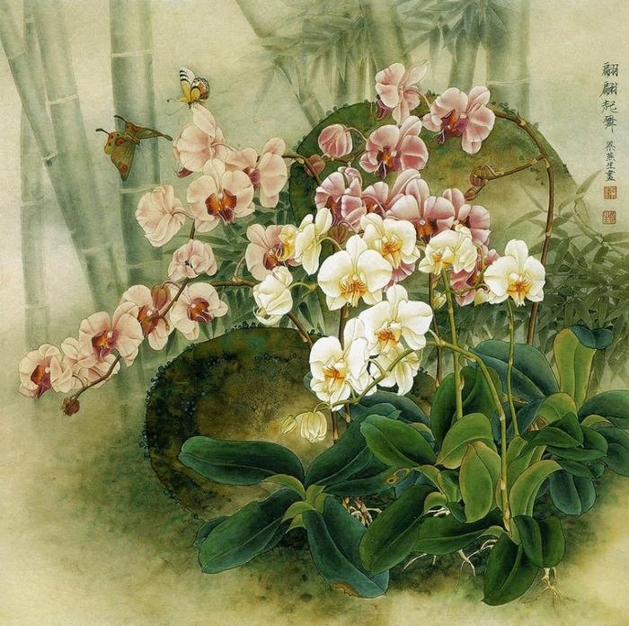 картины художницы Liang Yan Sheng 7 (700x696, 415Kb)
