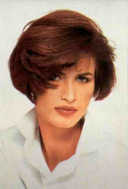 Стрижки на средние волосы 1980